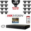Kit Vidéo Surveillance PRO IP HIKVISION : 16x Caméras POE Dômes motorisée IR 20M 4 MP + Enregistreur NVR 16 canaux H265+ 3000Go