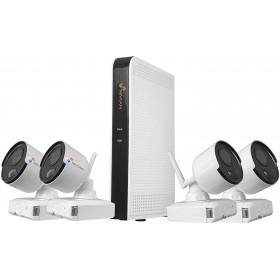Kit vidéo surveillance WIFI sur batterie 4x caméras tubes FULL HD 1080P IR 8M