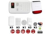 Système d'alarme sans fil GSM immunité animaux : INCENDIE + sirène flash solaire avec batterie CHUANGO O3 / G5 / S5