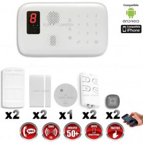 Système d'alarme sans fil GSM immunité animaux : VOL + INCENDIE CHUANGO O3 / G5 / S5