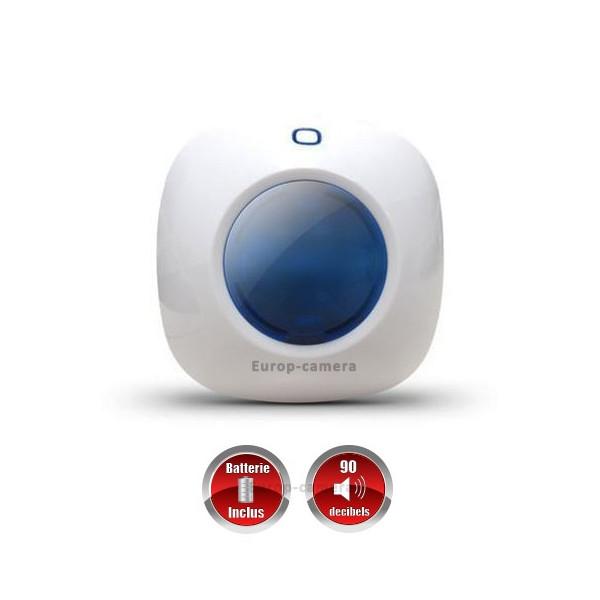 Sirène flash stroboscopique intérieure avec batterie intégrée sans fil CHUANGO O3 / G5 / S5 / S9 / A9