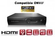 Enregistreur numérique NVR réseau 16 canaux H264 IP ONVIF 1080P FULL HD / Ref : EC-NVR16C8