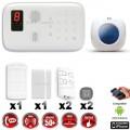 Système d'alarme sans fil GSM immunité animaux  + sirène flash intérieure CHUANGO O3 / G5 / S5