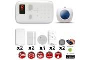 Système d'alarme sans fil GSM : VOL + INCENDIE + Sirene flash interieur