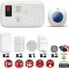 Système d'alarme sans fil GSM immunité animaux : VOL + INCENDIE + Sirène flash intérieure CHUANGO O3 / G5 / S5