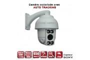 Caméra de vidéo surveillance motorisée AUTO TRACKING PTZ 360° IR 50M 650 TVL ZOOM X10 Exterieur / EC-PTZAT10X