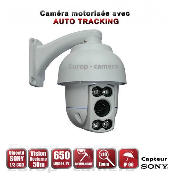 Camera motoris e ptz ir 50m 650 lignes exterieur zoom x10 360 - Camera ip exterieur motorise ...