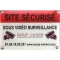 Panneaux PVC Site sécurisé sous Vidéo Surveillance 300 x 200 mm