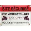 Panneaux PVC Site sécurisé sous Vidéo Surveillance 300 x 200 x 5 mm