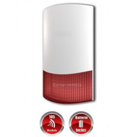 Sirène exterieur ou interieur flash sans fil avec batterie de secours MFprotect