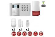 Système d'alarme PRO sans fil GSM + RTC 868 mhz immunité animaux 25 kg + Sirène Flash exterieur - intérieur MFprotect