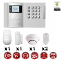Système d'alarme PRO sans fil GSM + RTC 868 mhz immunité animaux 25 kg + détecteur de fumée MFprotect