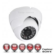 Mini dômes Anti-vandal 1000 TVL 1/3 SONY IMX138 IP66 IR 20m / EC-AVDS1000B - Caméra de Vidéo surveillance