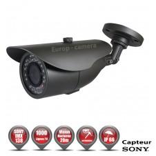 Tube Anti-vandal 1000 TVL 1/3 SONY IMX138 IP66 IR 20m / EC-CSC1000 - Caméra de Vidéo surveillance