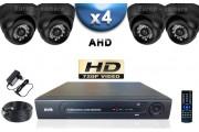 KIT PRO AHD 4 Caméras Dômes IR 20m Capteur SONY HD 960P + Enregistreur DVR AHD 1000 Go / Pack de vidéo surveillance