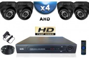KIT PRO AHD 4 Caméras Dômes IR 20m SONY HD 720P + Enregistreur DVR AHD 1000 Go / Pack de vidéo surveillance