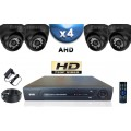 KIT PRO AHD 4 Caméras Dômes SONY HD 720P + Enregistreur DVR AHD 1000 Go / Pack de vidéo surveillance