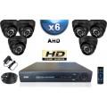 KIT PRO AHD 6 Caméras Dômes SONY HD 720P + Enregistreur DVR AHD 1000 Go / Pack de vidéo surveillance