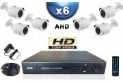 KIT PRO AHD 6 Caméras Tubes SONY HD 720P + Enregistreur DVR AHD 1000 Go / Pack de vidéo surveillance