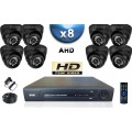 KIT PRO AHD 8 Caméras Dômes SONY HD 720P + Enregistreur DVR AHD 2000 Go / Pack de vidéo surveillance