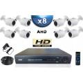 KIT PRO AHD 8 Caméras Tubes SONY HD 720P + Enregistreur DVR AHD 2000 Go / Pack de vidéo surveillance