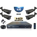 KIT PRO AHD 4 Caméras Tubes IR 40m SONY HD 720P + Enregistreur DVR AHD 1000 Go / Pack de vidéo surveillance