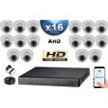 KIT PRO AHD 8 Caméras Dômes IR 35m SONY HD 720P + Enregistreur DVR AHD 3000 Go / Pack de vidéo surveillance