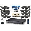 KIT PRO AHD 16 Caméras Tubes IR 40m SONY HD 720P + Enregistreur DVR AHD 3000 Go / Pack de vidéo surveillance