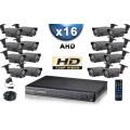 KIT PRO AHD 16 Caméras Tubes IR 60m SONY HD 720P + Enregistreur DVR AHD 3000 Go / Pack de vidéo surveillance