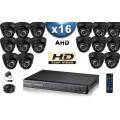 KIT PRO AHD 16 Caméras Dômes IR 20m SONY HD 720P + Enregistreur DVR AHD 3000 Go / Pack de vidéo surveillance