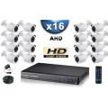 KIT PRO AHD 16 Caméras Tubes IR 20m SONY HD 720P + Enregistreur DVR AHD 3000 Go / Pack de vidéo surveillance