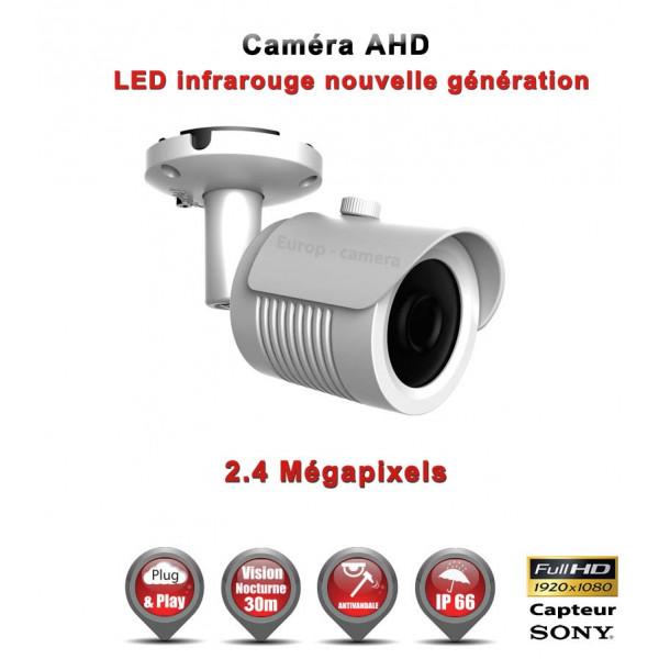 Tube AHD / CVI / TVI Capteur SONY 2.1MP FULL HD 1080P IR 30m étanche réf: EC-AHDC20FHD - caméra vidéo surveillance