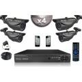 KIT CONFORT 4x Caméras Tubes 700 TVL + Enregistreur DVR 500 Go / Pack de vidéo surveillance