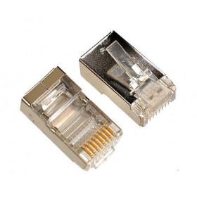 Plug mâle RJ45 catégorie 6 blindé (10 pièces)