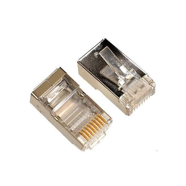 Plug mâle RJ45 catégorie 5e blindé (10 pièces)