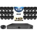 KIT PRO AHD 24 Caméras Dômes IR 20m SONY HD 960P + Enregistreur DVR AHD 3000 Go / Pack de vidéo surveillance
