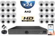 KIT PRO AHD 24 Caméras Dômes IR 35m SONY HD 960P + Enregistreur DVR AHD 3000 Go / Pack de vidéo surveillance