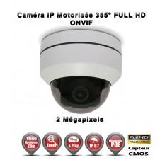 Caméra de vidéo surveillance motorisée MINI DOME PTZ 355° IP FULL HD 1080P ONVIF POE IR 20M ZOOM X3 Exterieur / EC-MINIPTZIP3X