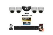 KIT PRO AHD 4 Caméras Dômes Motorisée PTZ IR 20m FULL HD 1080P + Enregistreur DVR AHD FULL HD 2000 Go / Vidéo surveillance