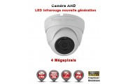 "Mini Dôme AHD Anti-vandal 4 MegaPixels Capteur 1/3"" OV IR 20m étanche réf: EC-AHDD20B4MP - caméra surveillance"