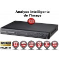 Enregistreur numérique 5 en 1 XVR AHD CVI TVI IP 16 canaux H264+ FULL HD 1080P 4MP 5MP / Ref : EC-DVRAHD16FHD