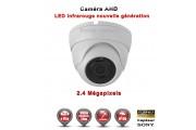 """Mini Dôme AHD Anti-vandal FULL HD 1080P 2.4MP Capteur 1/2.7"""" SONY IMX322 IR 20m étanche réf: EC-AHDD20FHDB - caméra surveillance"""