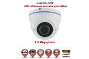 """Dôme AHD / CVI / TVI FULL HD 1080P 2.4MP Capteur 1/2.7"""" SONY IMX323 IR 35m étanche réf: EC-AHDD30FHDB caméra vidéo surveillance"""