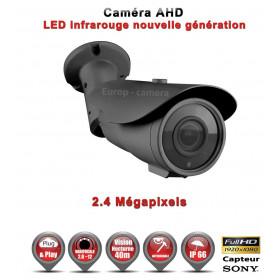 Tube AHD / CVI / TVI Capteur SONY 2.1MP FULL HD 1080P IR 40m étanche réf: EC-AHDC40FHD - caméra vidéo surveillance
