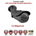 "Tube AHD Anti-vandal FULL HD 1080P 2.4MP Capteur 1/2.7"" SONY IMX322 IR 40m étanche réf: EC-AHDC40FHD - caméra vidéo surveillance"