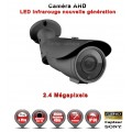 "Tube AHD / CVI / TVI FULL HD 1080P 2.4MP Capteur 1/2.7"" SONY IMX323 IR 40m étanche réf: EC-AHDC40FHD - caméra vidéo surveillance"