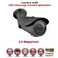 "Tube AHD Anti-vandal FULL HD 1080P 2.4MP Capteur 1/2.7"" SONY IMX322 IR 60m étanche réf: EC-AHDC60FHD - caméra vidéo surveillance"
