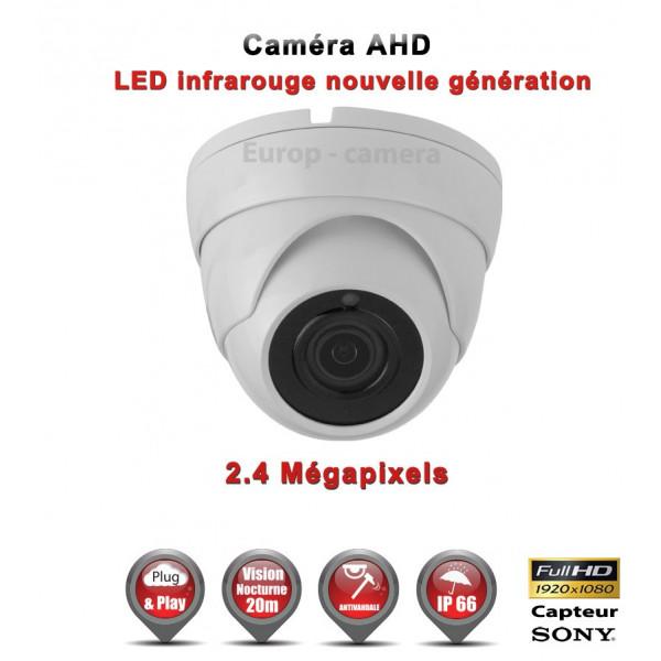 Mini Dôme AHD / CVI / TVI Capteur SONY 2.1MP FULL HD 1080P IR 20m étanche réf: EC-AHDD20FHDB - caméra surveillance