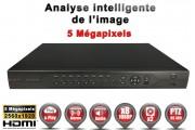 Enregistreur numérique 5 en 1 XVR / AHD / CVI / TVI / IP 8 canaux H264+ 4 MegaPixels & 5 MegaPixels / Ref : EC-DVRAHD4MP8