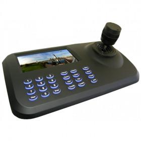 Joystick / clavier PTZ 3D IP ONVIF avec écran LED 5 Pouces professionnel